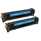 TonerGreen CB541A 125A Cyan Compatible Printer Toner Cartridge Value Pack 2X